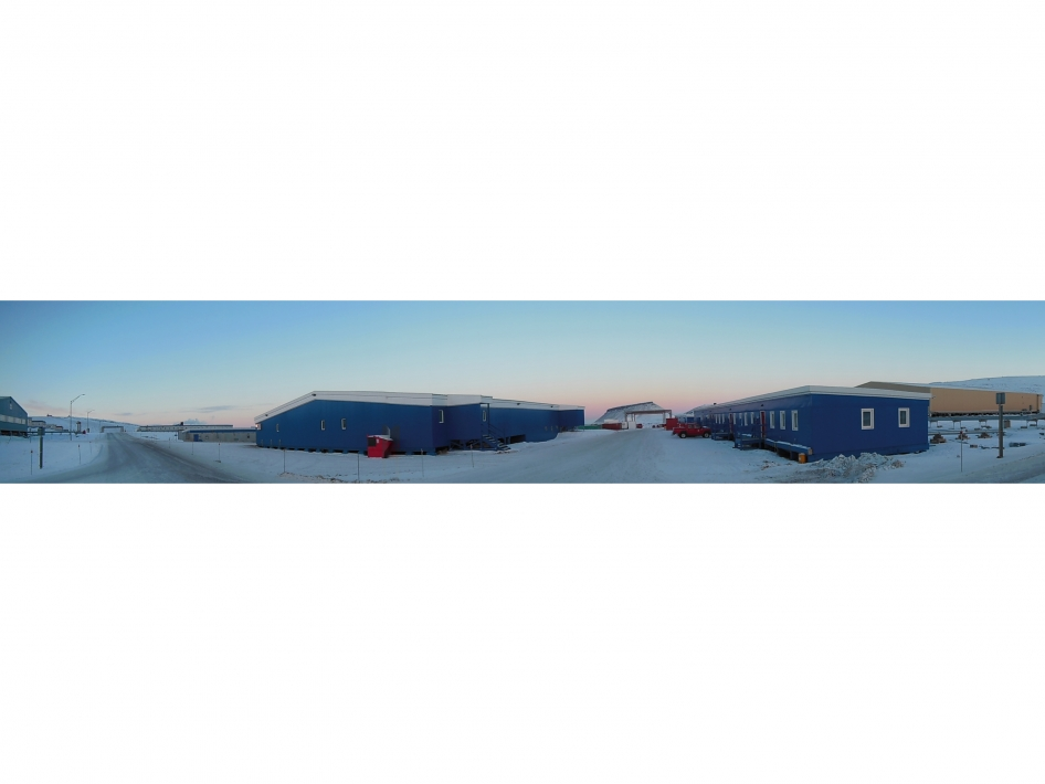 Panoramic view of Thule Air Base, Greenland.