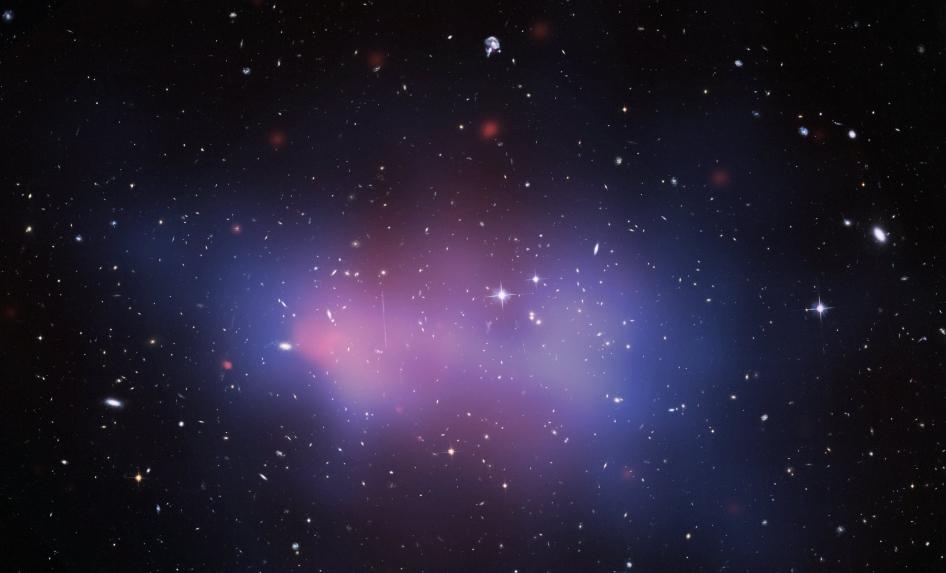 Composite image of the El Gordo galaxy cluster