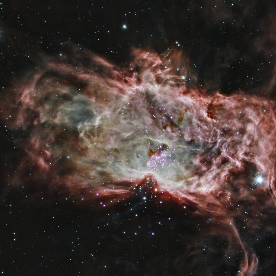 Composite image of the Flame Nebula