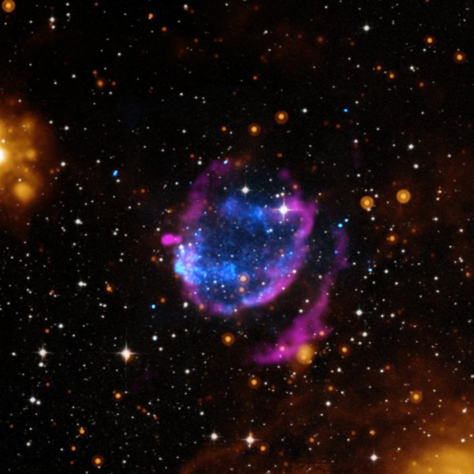 Composite image of supernova remnant G352
