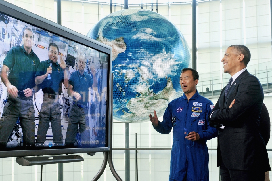 President Obama Hears From Astronauts on Space Station