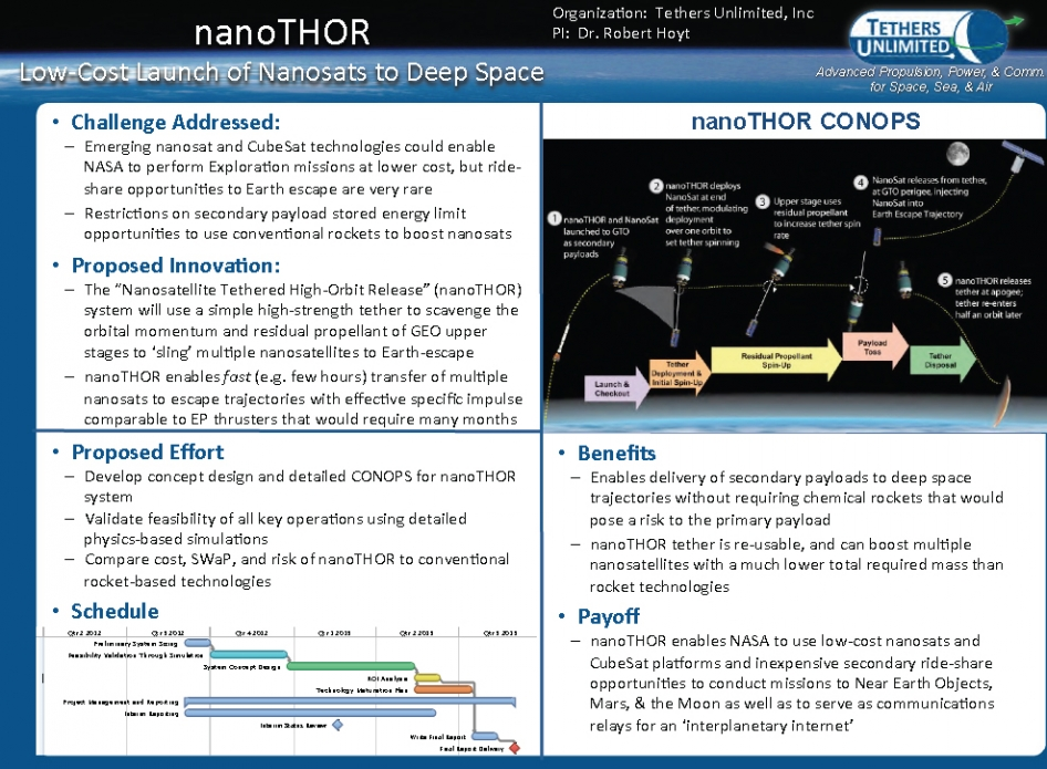 anoTHOR: Low-Cost Launch of Nanosatellites to Deep Space