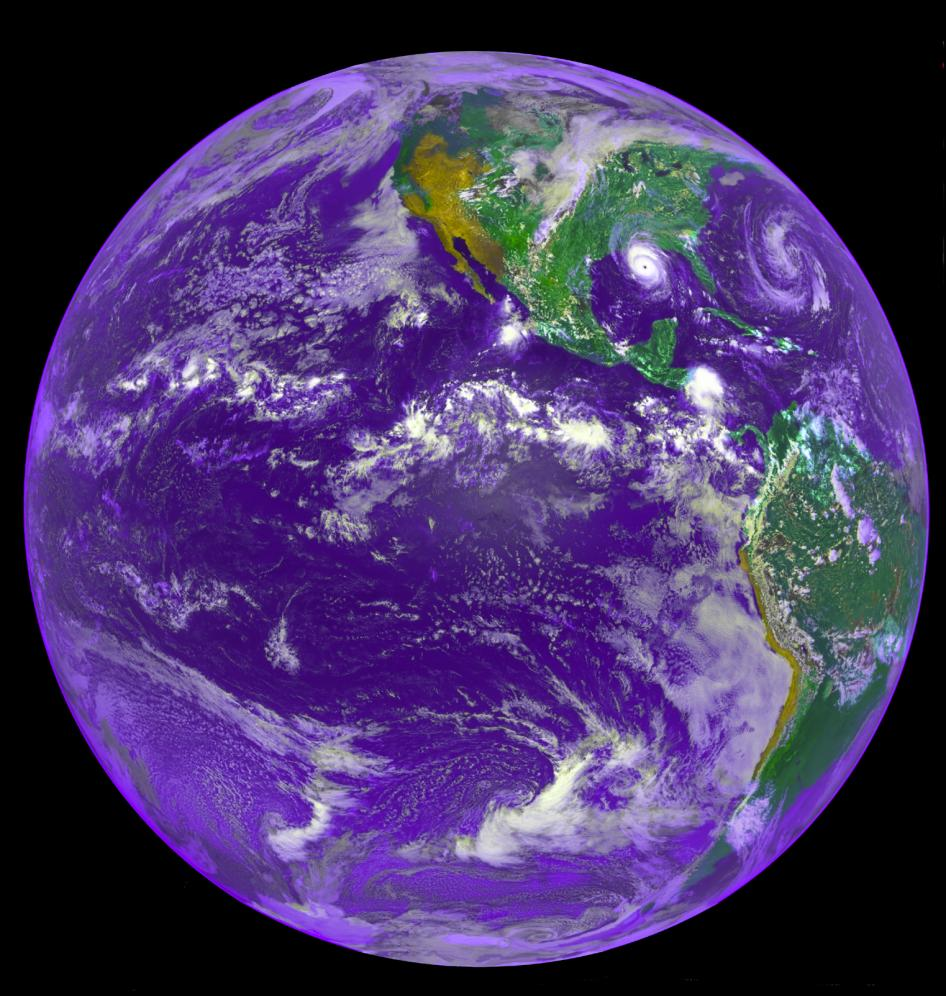 Image of the Earth from GOES 7