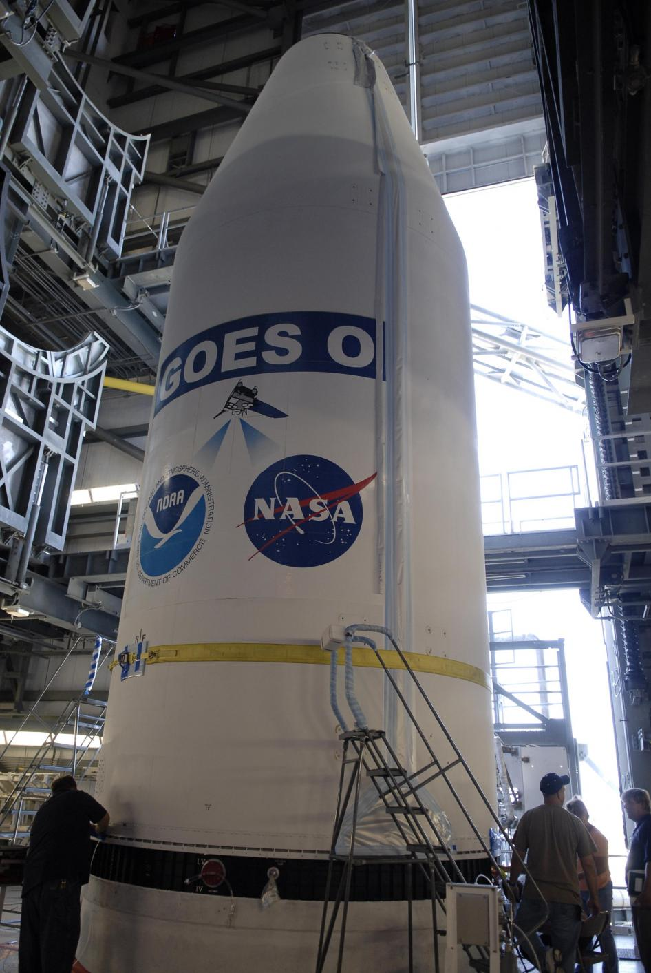 GOES-O in Nose Cone