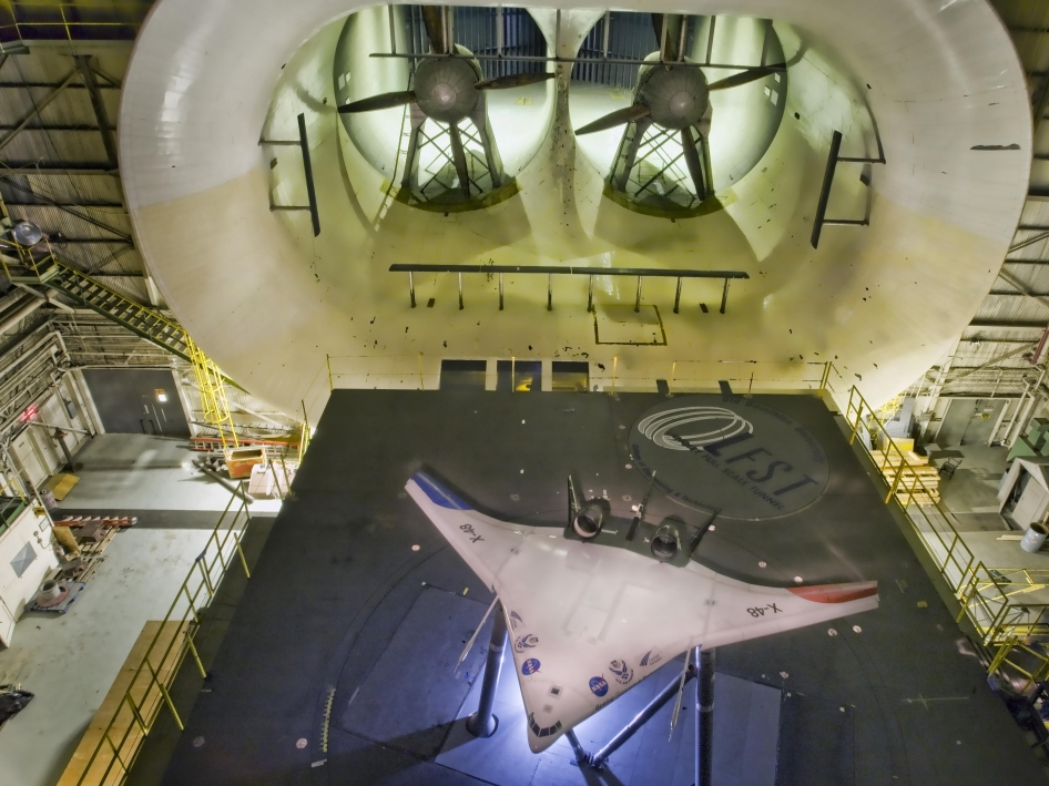 X-48C in Langley Full-Scale Tunnel