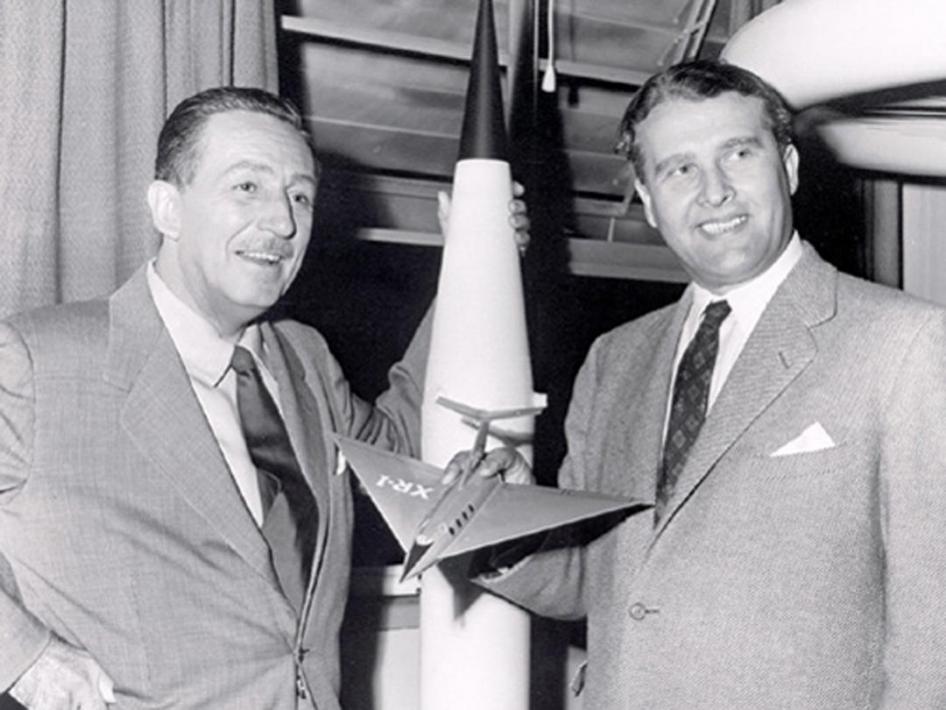 Pioneers Walt Disney And Wernher Von Braun Nasa