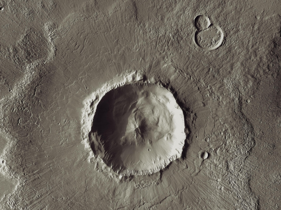 Mars Odyssey All Stars - Bacolor Crater