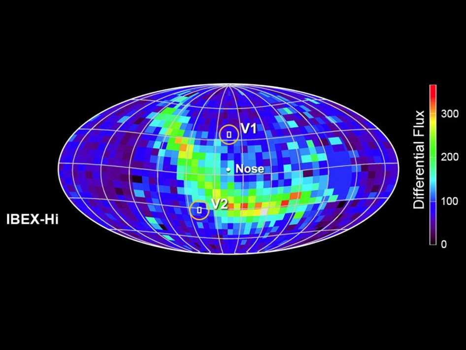 IBEX map of the heliosphere