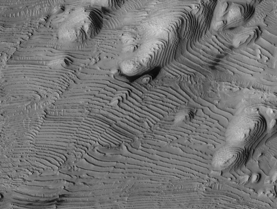 Rhythmic Layering in Danielson Crater on Mars
