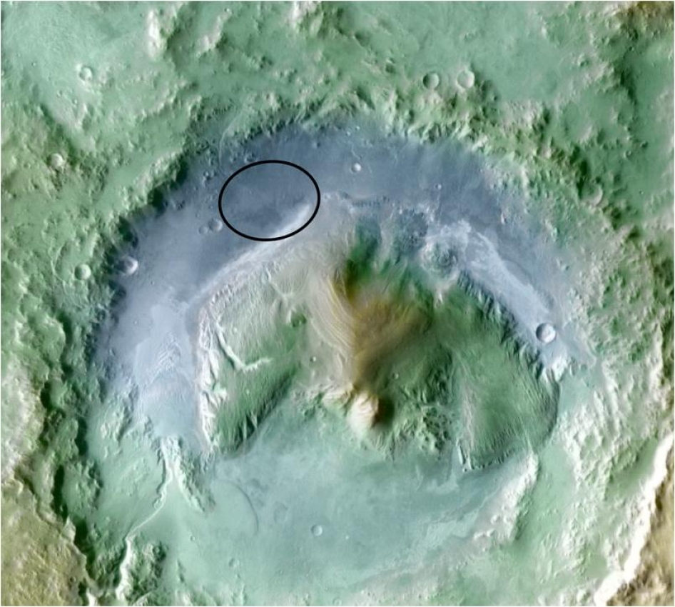 Topography of Gale Crater
