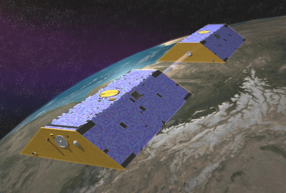 Artist's concept of Gravity Recovery and Climate Experiment