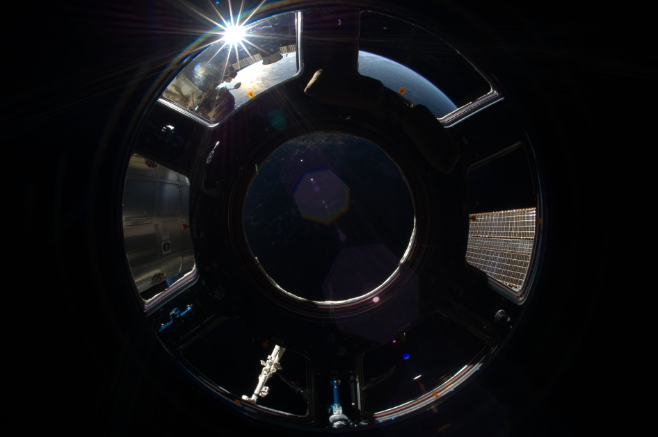 Sunrise in Station Cupola