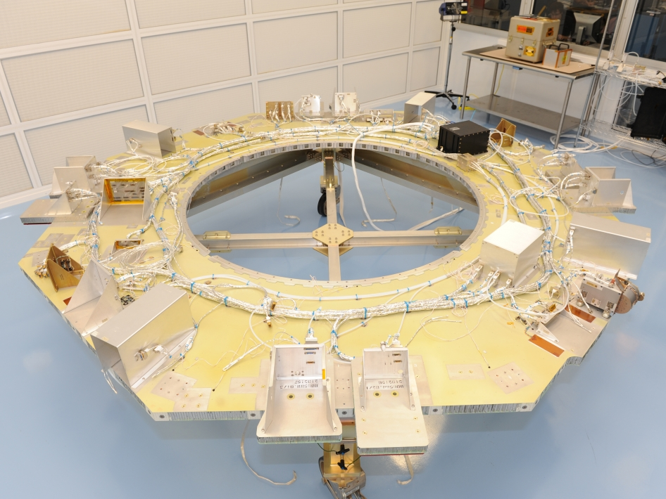 MMS Instrument Deck Readied for Installation of Instruments