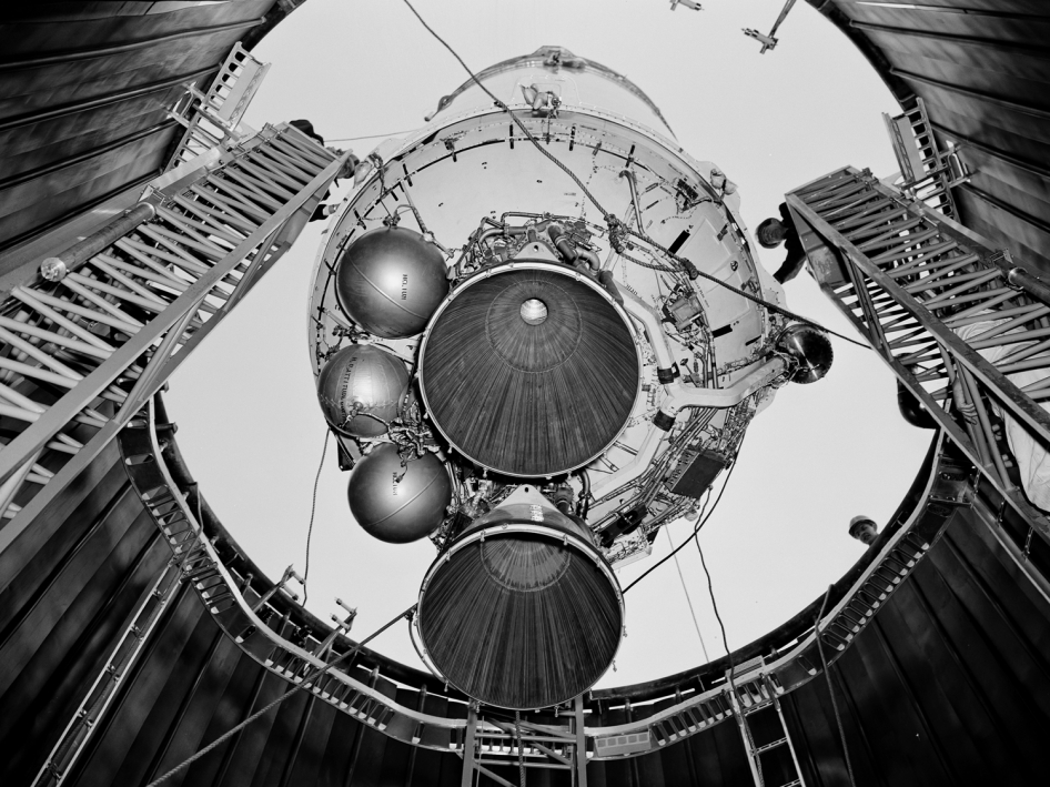 Centaur 6A Rocket Lowered into the Space Power Chambers