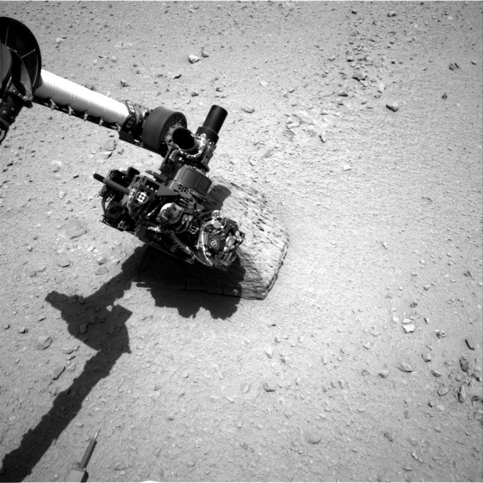 Curiosity's Rock-Contact Science Begins
