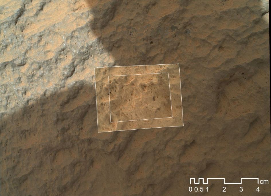 Mars Hand Lens Imager Nested Close-Ups of Rock 'Jake Matijevic'
