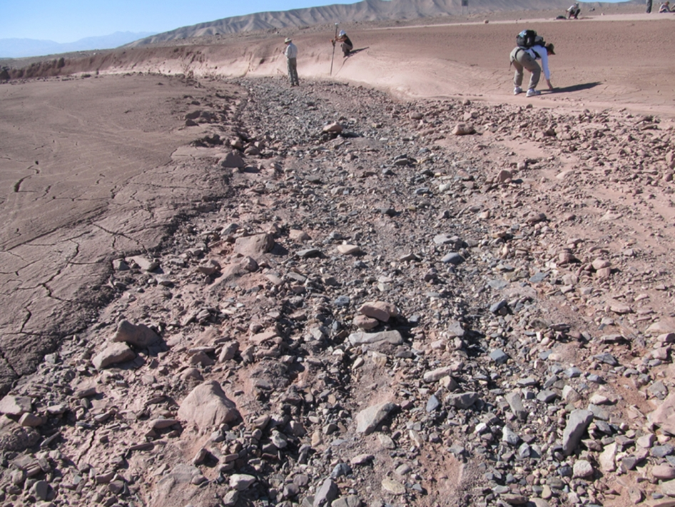 Dry Streambed on Alluvial Fan in Northern Chile