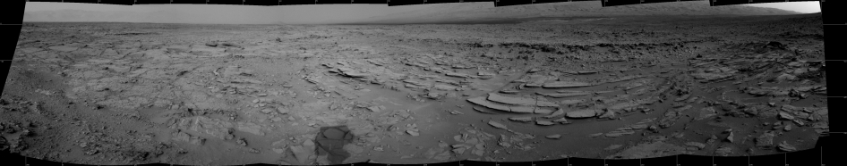 Sol 120 Panorama from Curiosity, near 'Shaler'