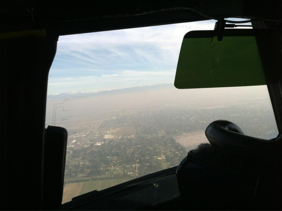 Low and Hazy Over Fresno