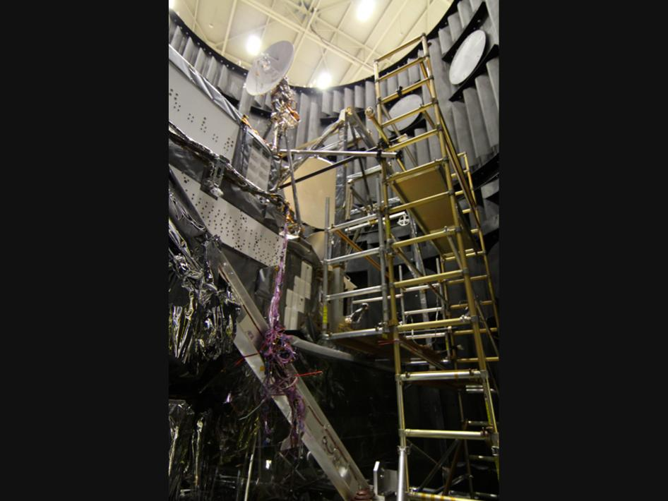 GPM Prepares to Leave Thermal Vacuum Chamber