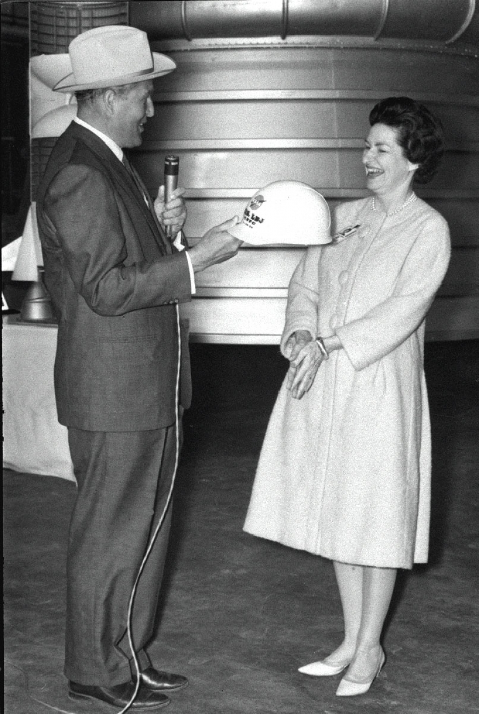 Dr. von Braun and Lady Bird Johnson