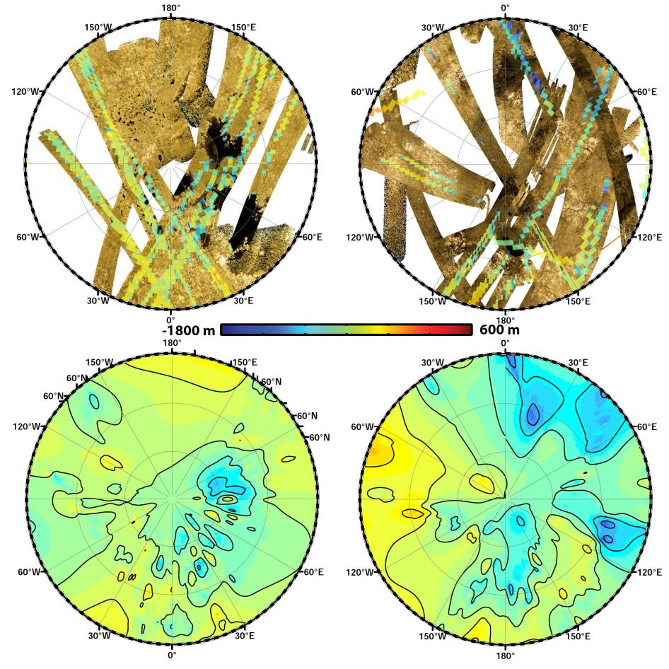 Polar Views of Titan's Global Topography