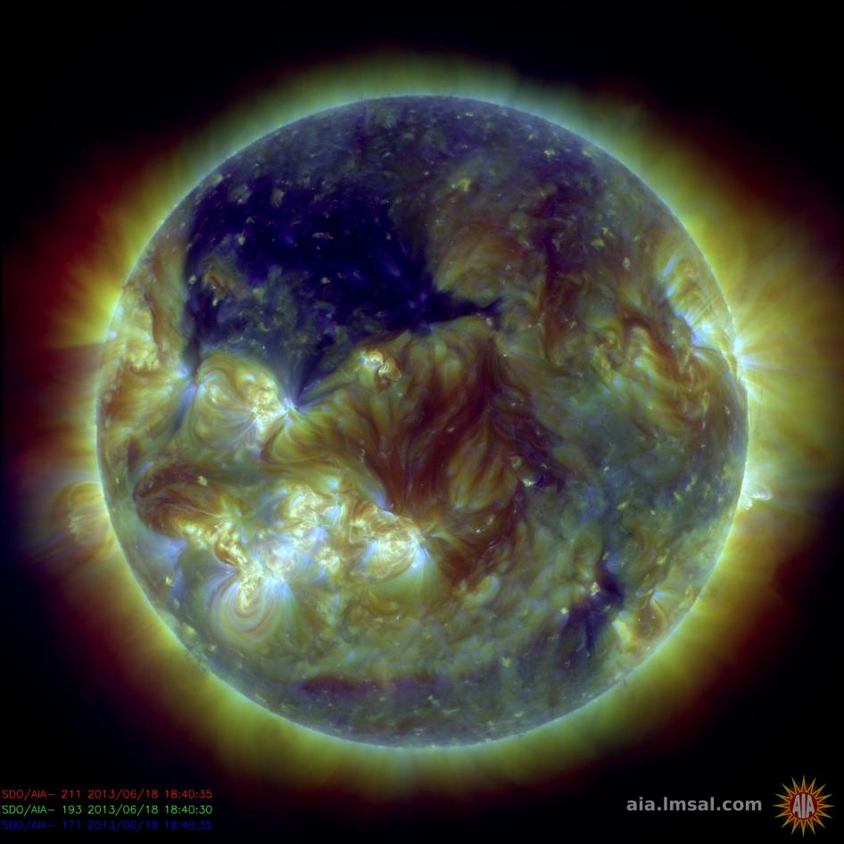 Massive Coronal Hole on the Sun