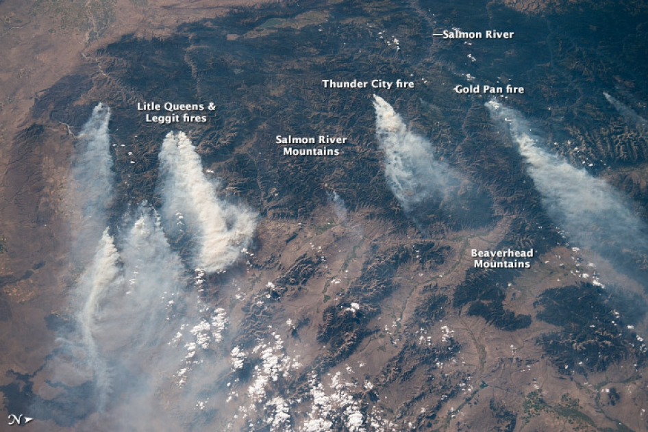 Fires in Montana and Idaho As Seen by ISS | NASA