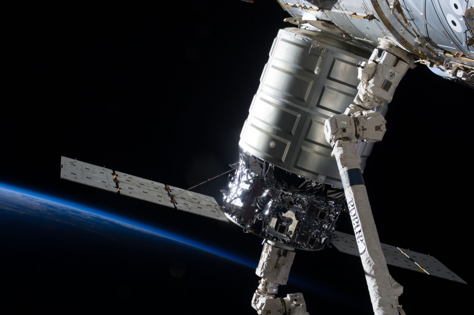 Cygnus in the Grasp of the Canadarm2