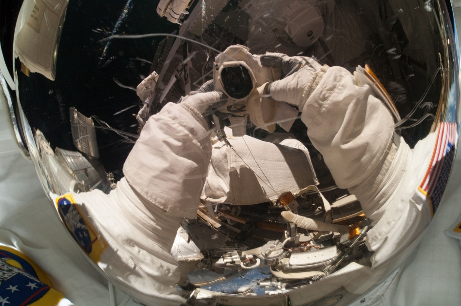 Rick Mastracchio is Pictured in a Selfie   NASA