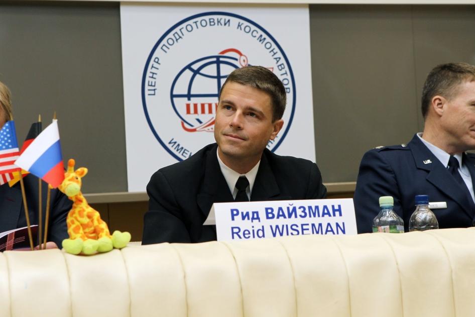 Reid Wiseman Listens to a Reporter's Question | NASA