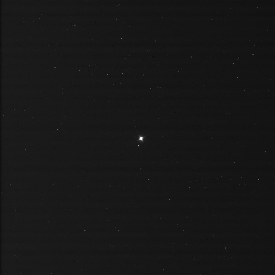 Image of Earth and the moon taken by NASA's Cassini spacecraft