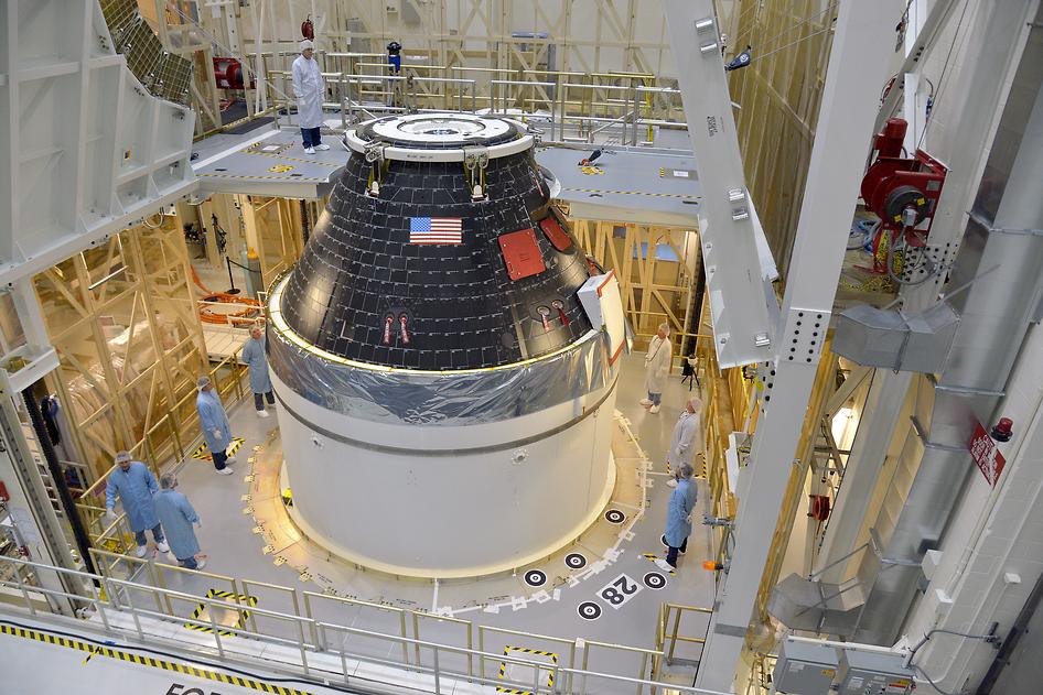 NASAs første færdige Orion-modul til bemandede missioner