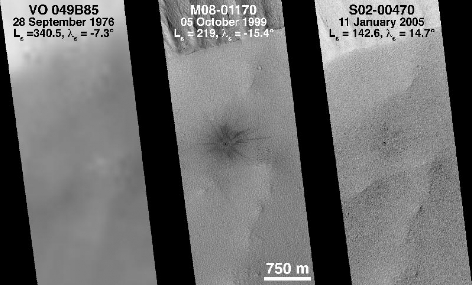 Recent Changes on Mars Seen by Mars Global Surveyor