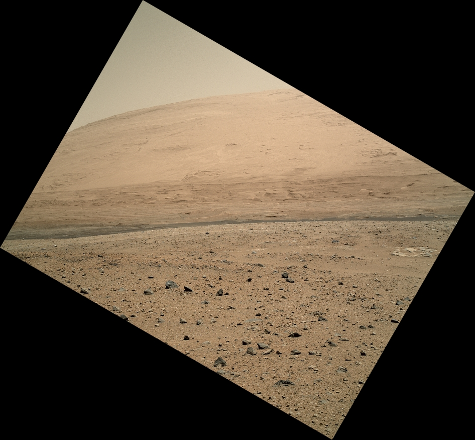 View from Curiosity's Arm-Mounted Camera