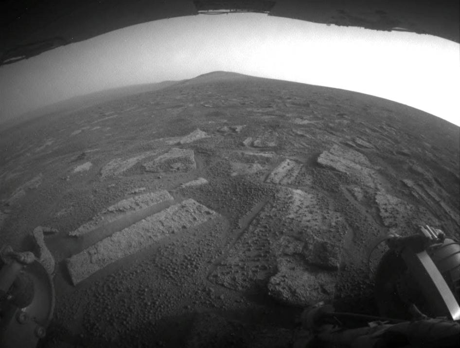 Opportunity's view in 'Botany Bay'