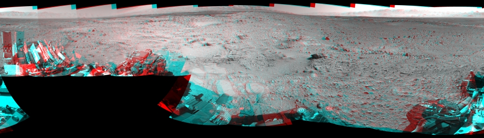 NASA's Mars rover Curiosity captured this stereo view using its Navigation Camera