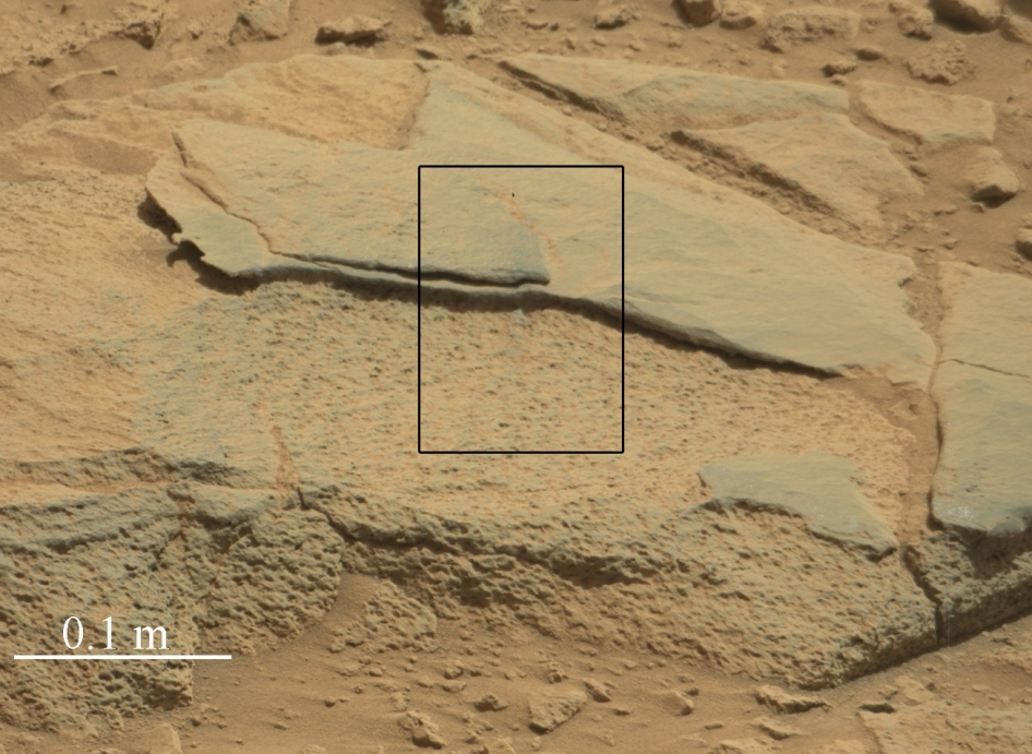 Target rock 'Ithaca' in Gale Crater