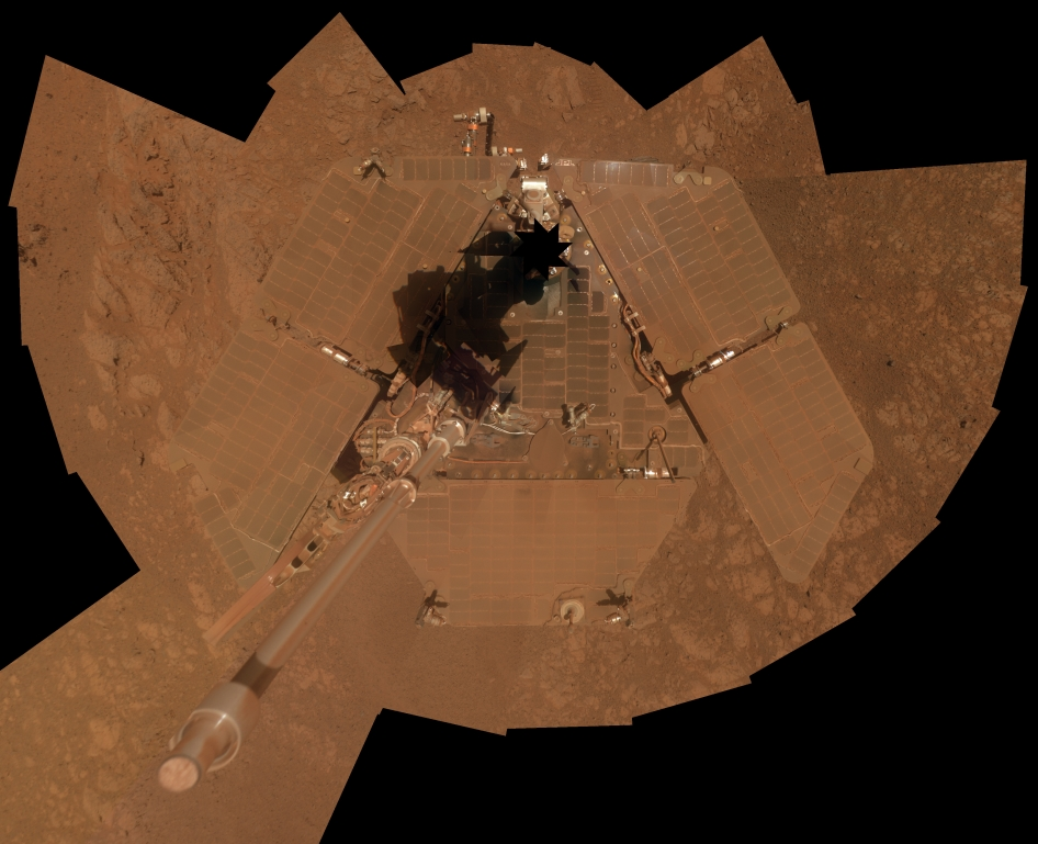 Self-Portrait by Opportunity Mars rover