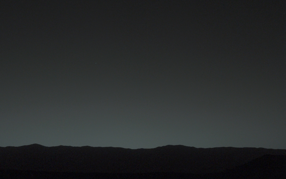 A Pale Blue Dot from Mars