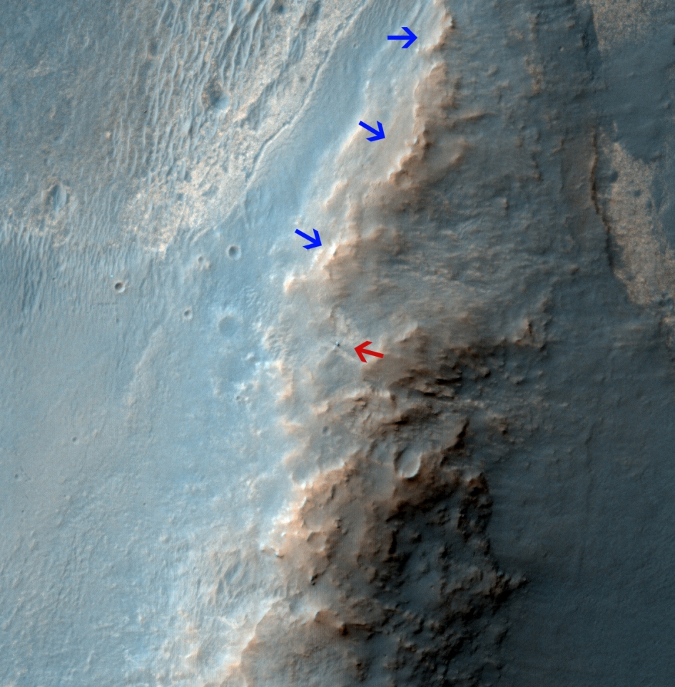 Satellite view of NASA's Mars Exploration Rover Opportunity