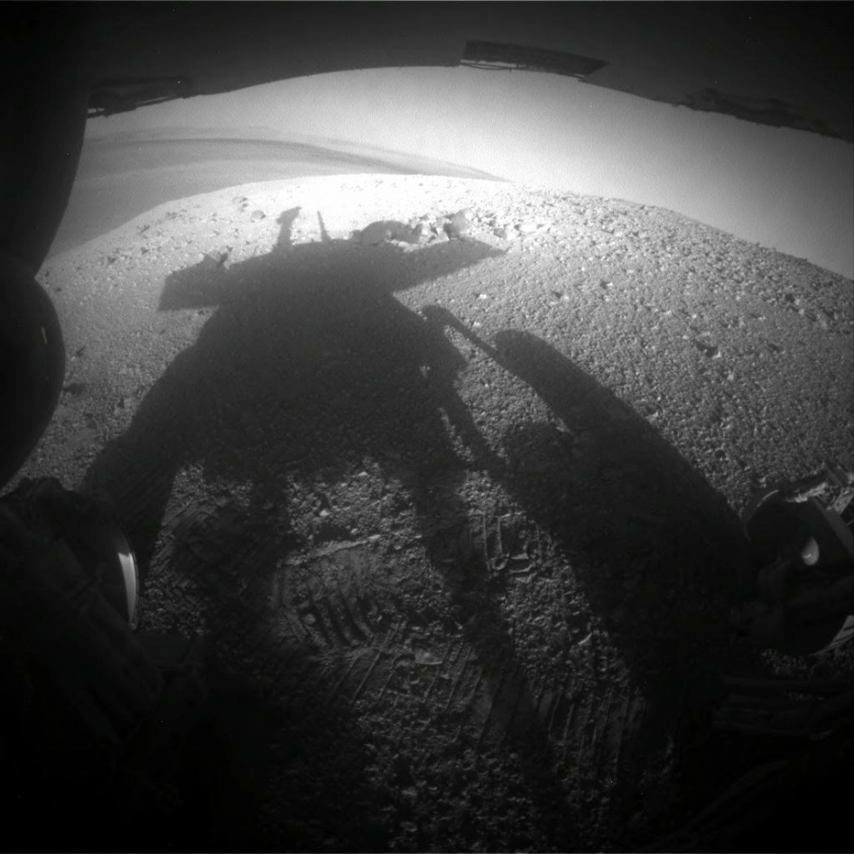 Shadow portrait of NASA rover Opportunity