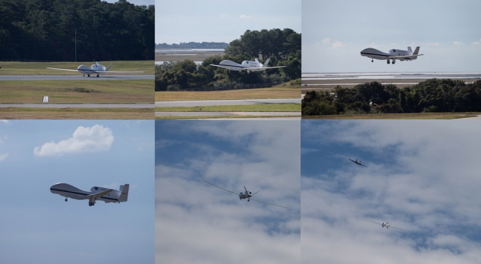 collage of take off images