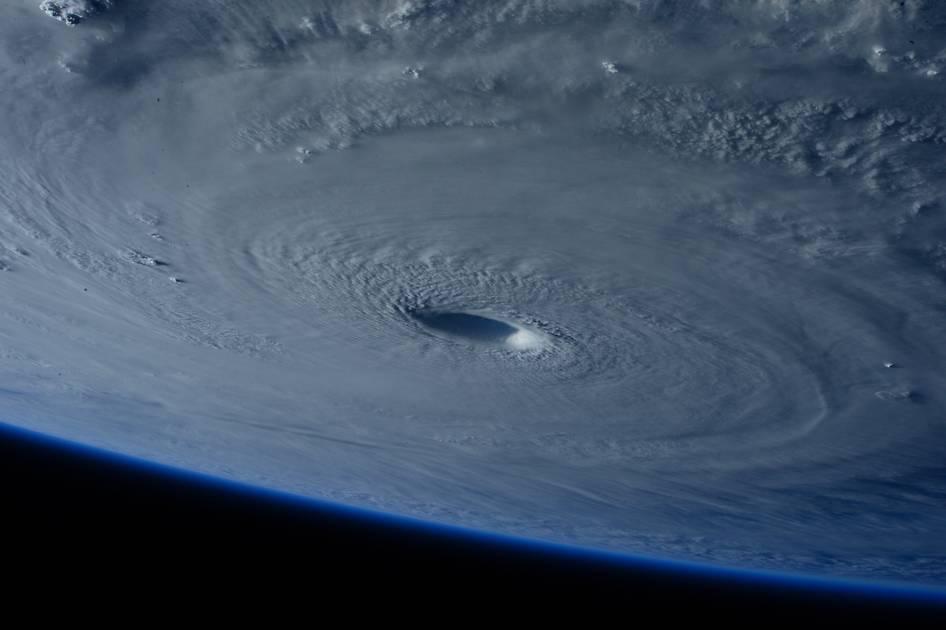 Space Station Flies Over Super Typhoon Maysak