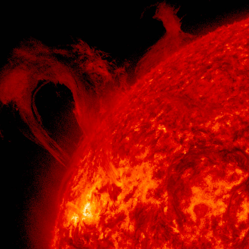 curly loop solar flare