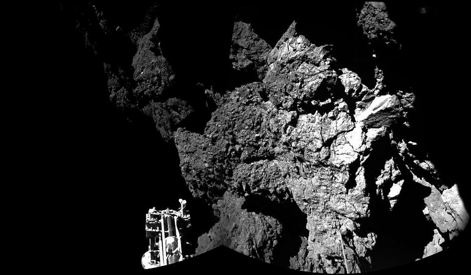 Sondas Philae y Rosetta en aterrizaje en Cometa