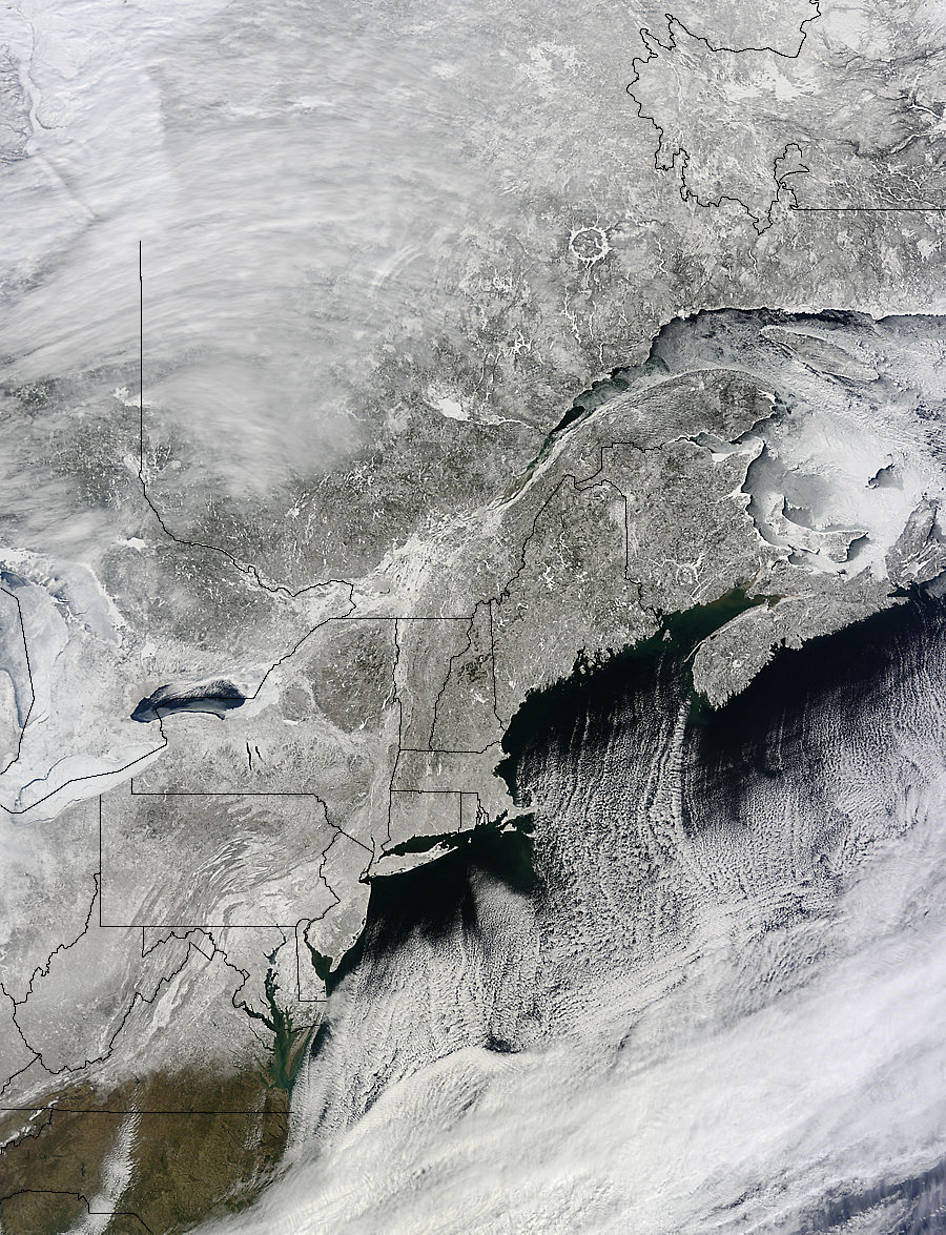 A NASA Satellite View of U.S. Northeastern Snow | NASA