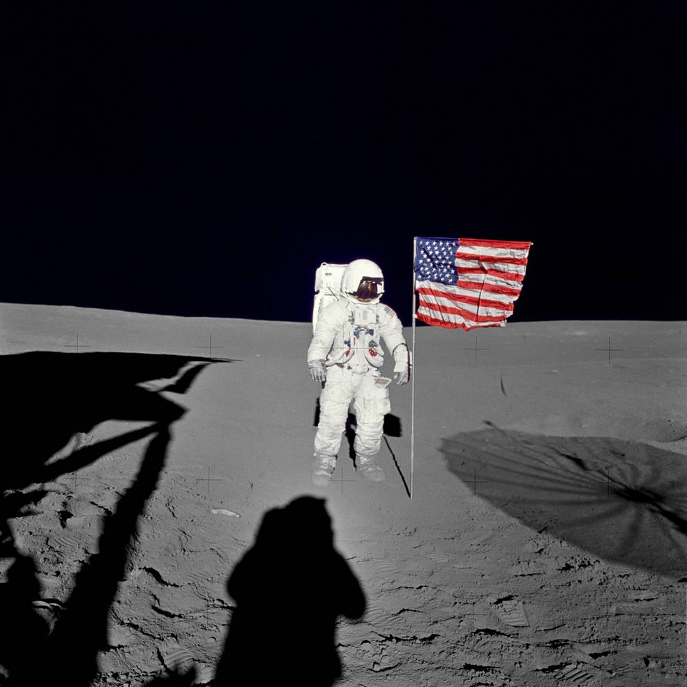 mitchell_flag on the moon