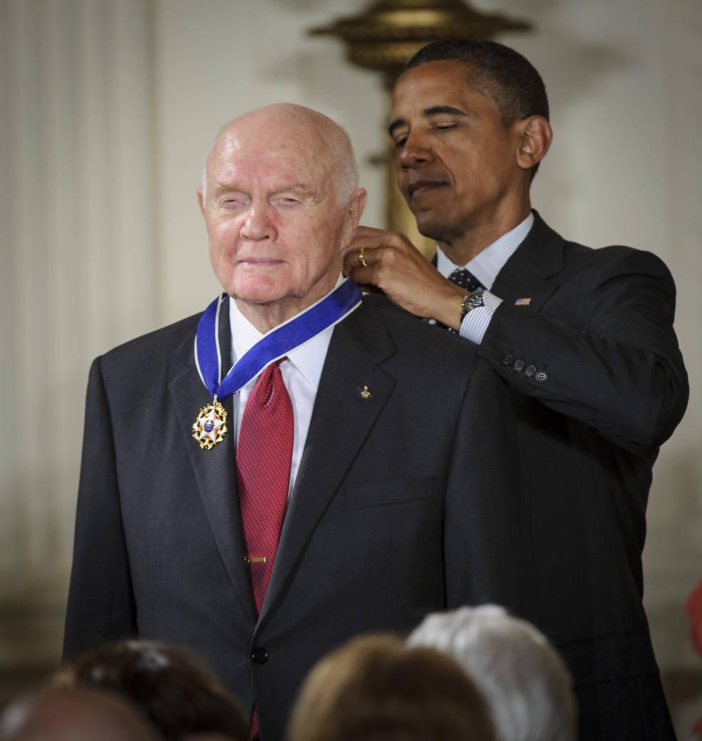 President Obama and John Glenn