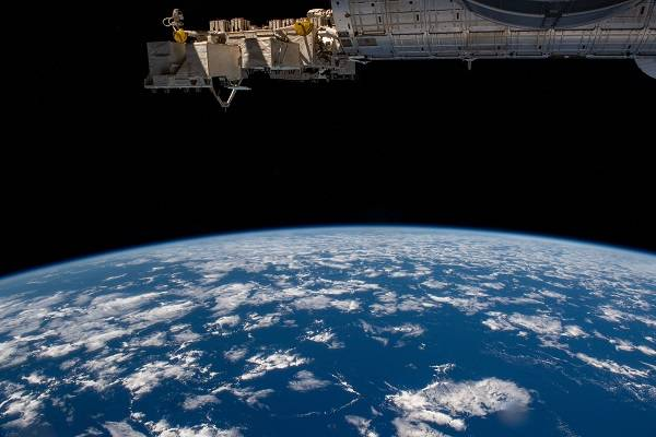 image of Earth from the space station